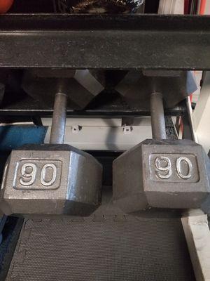 90 lb hex dumbbell set for Sale in Kissimmee, FL