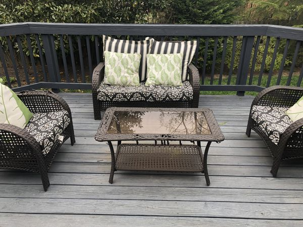 4 piece wicker patio set