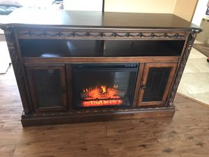 Ashley Furniture North Shore Fireplace TV Stand Entertainment Center for Sale in Zephyrhills, FL