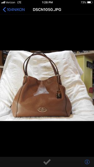 COACH EDIE NEW Large Cognac Hobo 33547 for Sale in Chandler, AZ