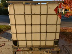 Water container storage creat a dog house or cut top for storage. Catch rain water for Sale in Stockton, CA