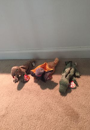 TY reptile Beanie Babies $5 each or $15 for the lot for Sale in Crofton, MD