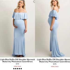 Pinkblush blue mermaid maternity gown dress for Sale in Mountain View, CA