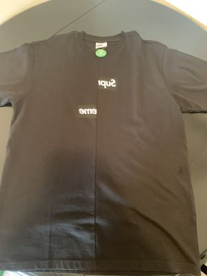Supreme CDG Box Logo Large Black Authentic for Sale in San Diego, CA
