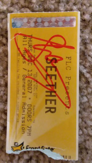 Shaun Morgan of Seether Autographed Ticket for Sale in Lubbock, TX