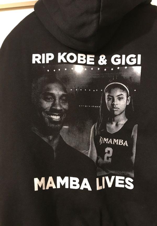 Kobe Bryant and Gigi hoodie thick cotton heavy weight