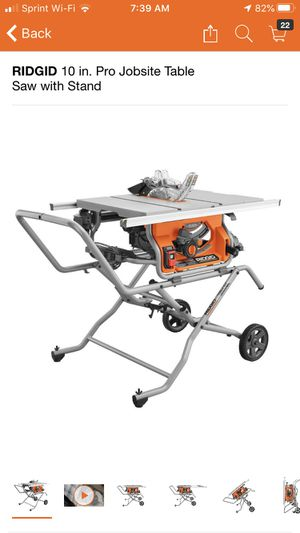 RIDGID 10 in. Pro Jobsite Table Saw with Stand. R4514 for Sale in Pomona, CA