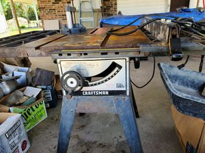 Craftsman heavy duty table saw works perfectly asking 150.00 for Sale in Athens, TX