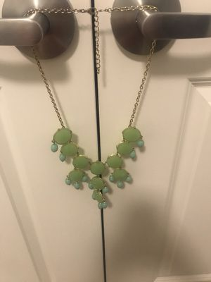 Green and teal statement necklace for Sale in Washington, DC