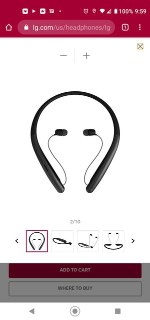 LG tone style bluetooth headset for Sale in Scottsdale, AZ