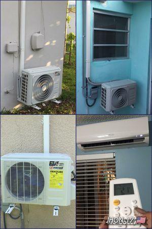 Air conditioner AC Split Minisplit inverter Mini split Brackets instalación installed 🌀 técnico de aire acondicionado 🤔12000 -18000 btu for Sale in Miami, FL
