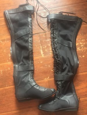 Thigh high black flat boots for Sale in Franklin Township, NJ