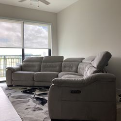 Gorgeous Large Grey Microfiber Reclining Sectional for Sale in Hollywood,  FL