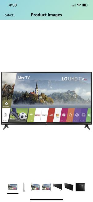 LG Electronics 65UJ6300 65-Inch 4K Ultra HD Smart LED TV (2017 Model) was$699 for Sale in Raleigh, NC