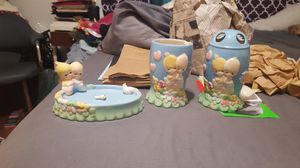 Precious moments soap dish, cup, toothbrush holder for Sale in West Covina, CA