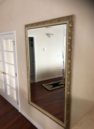 """Rectangular mirror, 44 """"x67"""" with bronze and cream frame! for Sale in Gig Harbor, WA"""