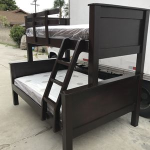 Twin Over Full Bunk Bed (Mattress Included ) for Sale in Commerce, CA