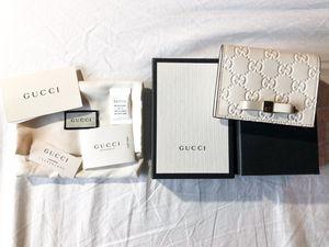 Gucci Guccissima Calfskin Card Wallet White for Sale in Sacramento, CA