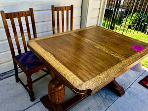 Antique dining table with chairs for Sale in Dallas, TX