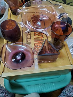 I have a large box full of purple glass very beautiful for Sale in Land O Lakes, FL
