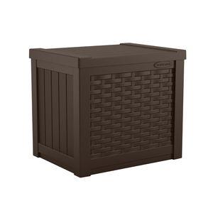 Outdoor Resin Wicker Deck Storage Box, Java Brown for Sale in Los Angeles, CA