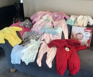 Lot of new Baby clothes and Diapers for Sale in Sacramento, CA