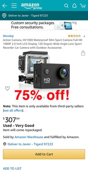 *NEW* wewdigi action camera for Sale in Beaverton, OR