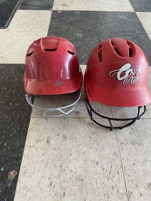Softball helmets. Glove and cleats for Sale in Chino, CA