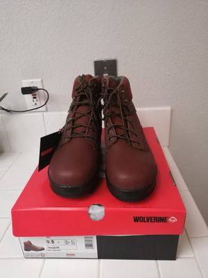 Brand new wolverine work boots for men. Size 10. Steel toe. for Sale in Riverside, CA