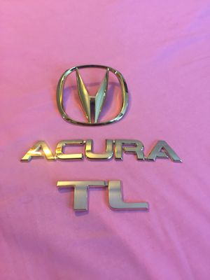 24k gold plated 2004-08 Acura rear lid emblems for Sale in Kissimmee, FL
