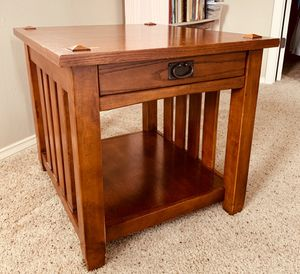 Two solid oak side tables . for Sale in Bothell, WA