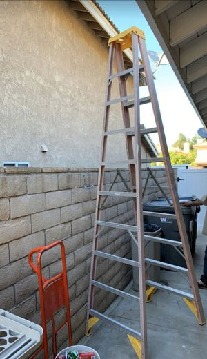 Werner 10' Fiberglass A-Frame Ladder for Sale in Corona, CA
