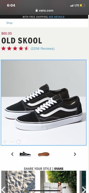 Black and white old school vans for Sale in Montclair, CA