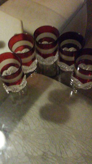 Ruby Red Drinking Glasses for Sale in South Euclid, OH