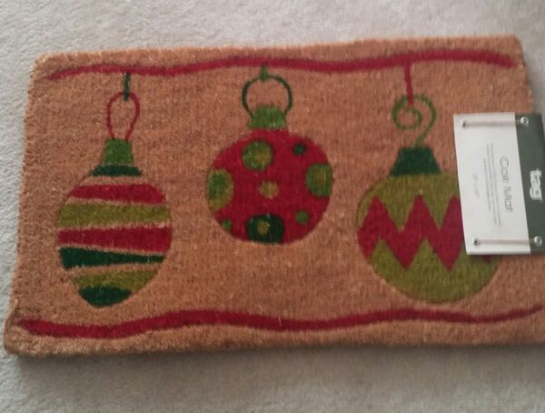 Holiday Ornament Coir Welcome Doormat/New