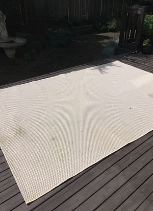 Patio lawn furniture carpet light tan/ cream for Sale in Kent, WA