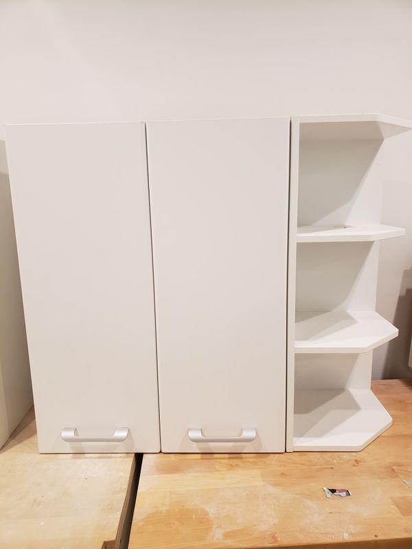 White Kitchen Cabinets with Wood Counter IF THE POST IS STILL UP THEN THE ITEM IS STILL AVAILABLE. I DONT WANT TO WASTE YOUR TIME SO DO NOT WASTE MINE