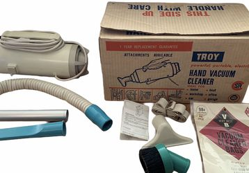 Troy Brand Vintage Hand Vacuum Cleaner with Original Box Paperwork Attachments for Sale in Beaverton,  OR