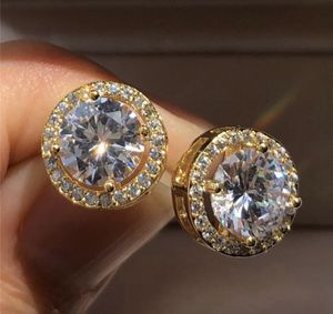VALENTINES DAY SALE: 1.25 ct Round Mojssanite White Diamond Halo Brilliant Cut Stud Earrings 18k White Gold for Sale in San Diego, CA