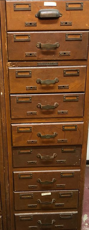 Antique vintage 1900. 14x27x51. library drawers cubby's. Perfect for kitchen, bedroom or office. for Sale in Austin, TX