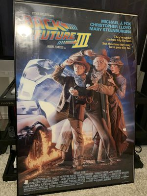 Back to the Future III DS Original Theatrical Movie poster for Sale in Arlington, TX