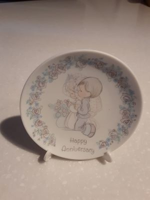 "Precious Moments ""Happy Anniversary "" porcelain decorative plate for Sale in Mesa, AZ"