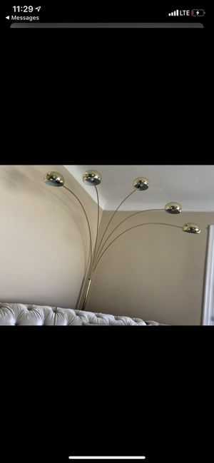 Huge gold floor tree lamp for Sale in Royal Oak, MI