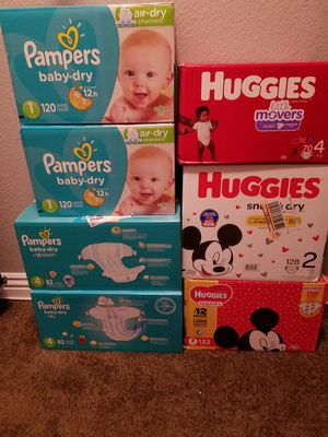 Pampers y huggies for Sale in March Air Reserve Base, CA