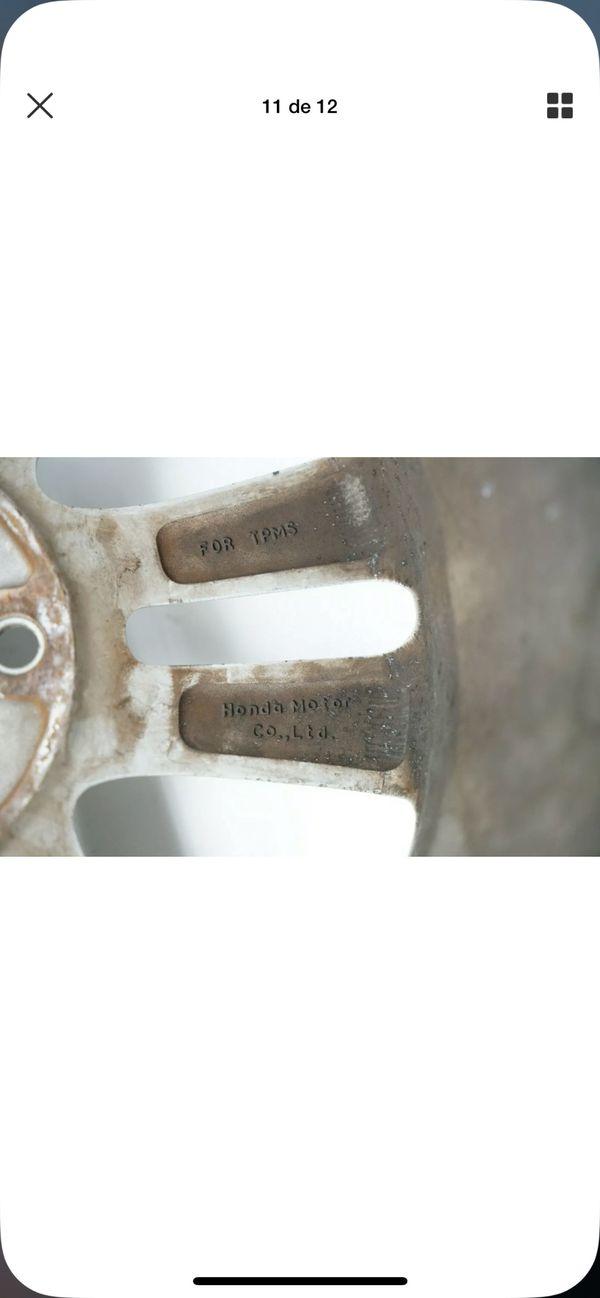 "#704 HONDA CIVIC SI 06-11 ALUMINUM 10 SPOKE WHEEL RIM 17"" 17x7 42700-SVB-A01 #4"
