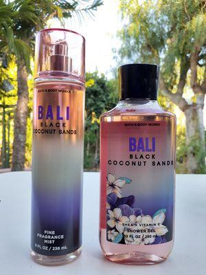 BATH & BODY WORKS BALI BLACK COCONUT SANDS BODY SPRAY MIST / SHOWER GEL SET for Sale in Los Angeles, CA