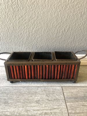 Household decorative storage container for pencils or anything for from world market for Sale in Chandler, AZ