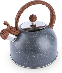 Tea Kettle, 2.3 Quart Tea Pot BELANKO Whistling Water Kettle, Food Grade Stainless Steel Teapot for Stovetops Gas Electric Induction with Wood Patter for Sale in Arlington,  VA