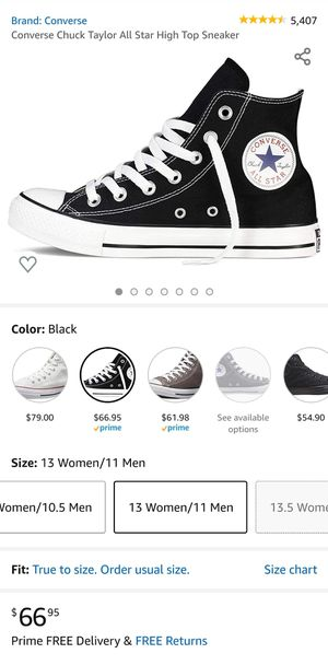 Converse Chuck Taylor All Stars Size 11 mens or 13 womens for Sale in Round Rock, TX