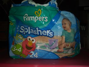 Pampers splashers size 3-4 quanity 7 for Sale in San Marcos, TX